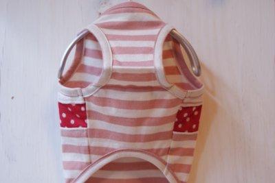 画像2: 犬服 - サマーボーダータンク pink